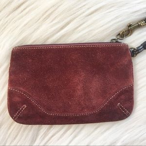 Coach suede collection wristlet